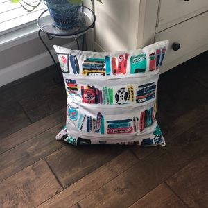 NWOT Kate Spade bookshelf library book pillow